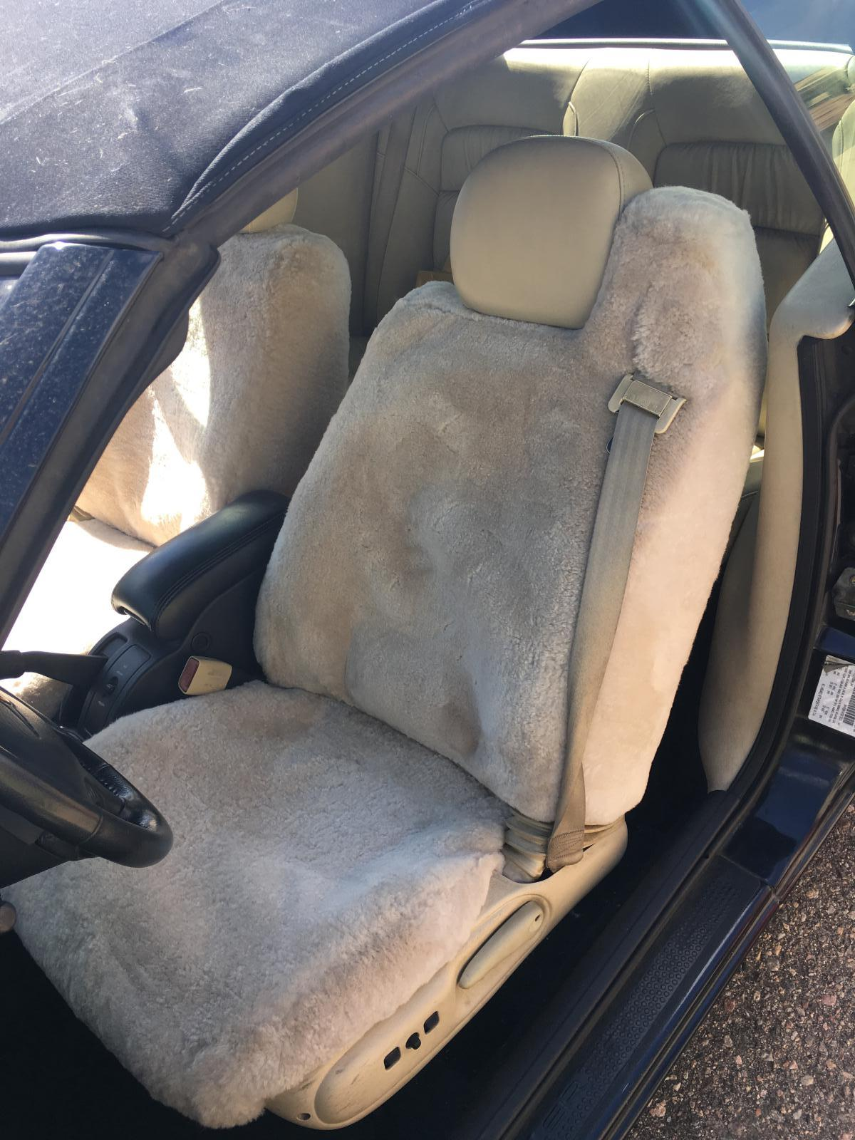 Sheepskin Seat Covers 1pc Cushion Pad For Fur Australian