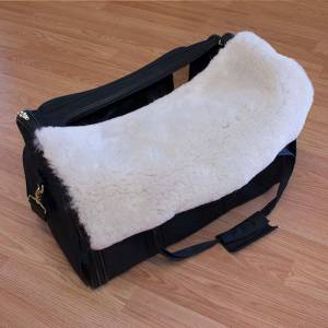 custom sheepskin dog carrier insert
