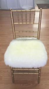 custom sheepskin chair cover