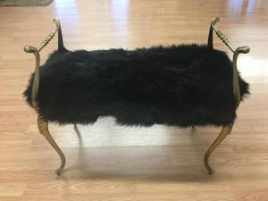 custom sheepskin bench cover